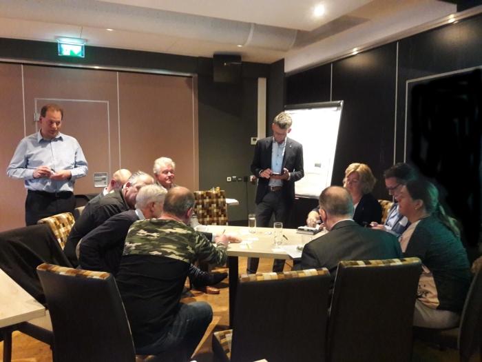 Deelnemers met elkaar in gesprek over een toekomstbestendig centrum