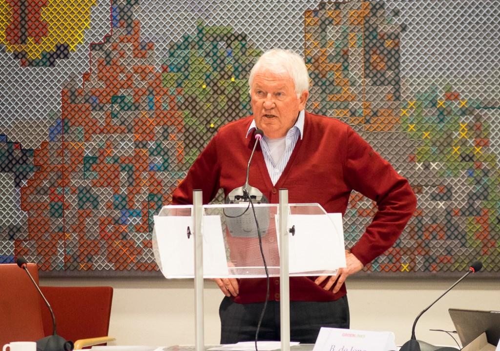 Jaap Borggreve maakte namens Stichting Redichem De Geeren gebruik van het vijf minuten-inspreekrecht  Tanja Moody © BDU media