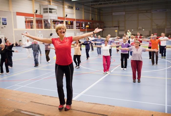 Olga Commandeur in actie tijdens een Haarlems evenement