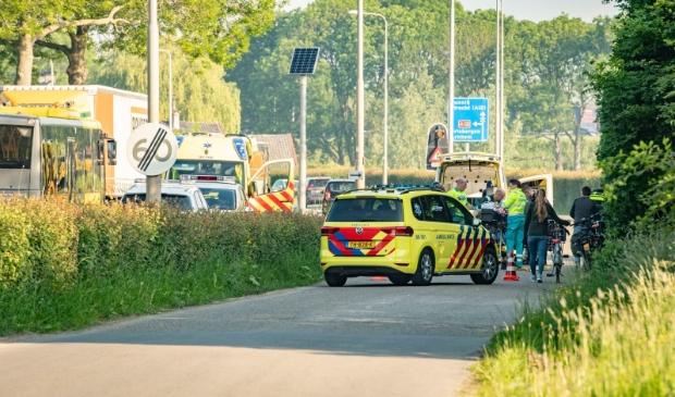 <p>Ongeluk op de parallelweg bij de Schoudermantel (archief mei 2019)</p>