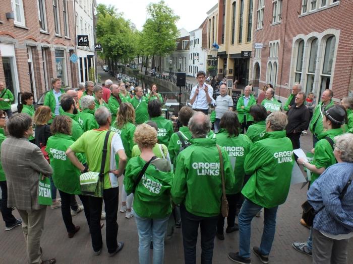 Bas Eickhout, lijsttrekker GroenLinks voor de Europese Verkiezingen in Amersfoort  Mirre Bogaerts © BDU media