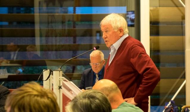 Jaap Borggreve maakte namens Stichting Redichem De Geeren gebruik van het vijf minuten-inspreekrecht