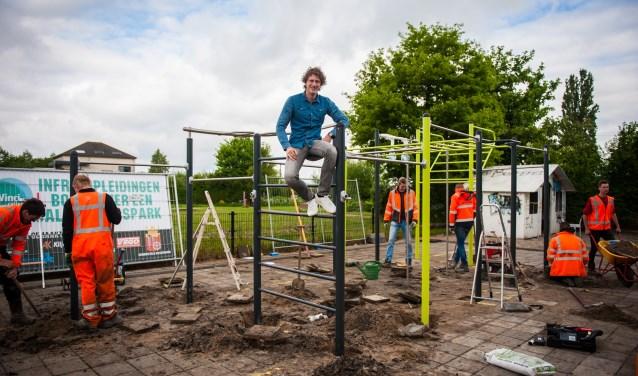 De studenten van Bouwmensen Infra hebben het park neergezet onder toeziend oog van M. Roverts BV.
