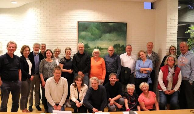De deelnemers van de werkgroep.