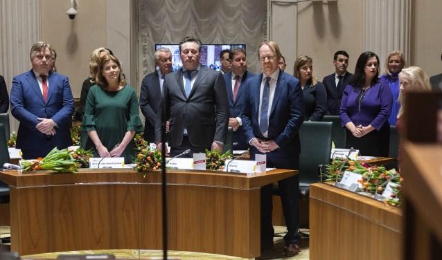 Robert Baljeu, derde van links, staat als vijftiende op de kandidatenlijst voor de Eerste Kamer.