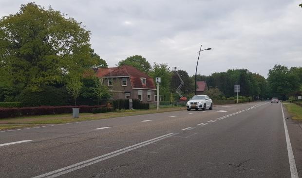 <p>De flitspaal langs de Voorthuizerstraat in Putten.</p>