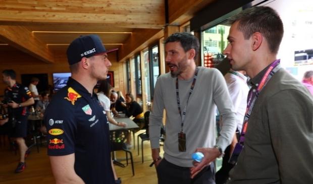 Erik van Haren (rechts) samen met Max Verstappen (links) en Mark van Bommel (midden). Frits van Eldik © BDU media