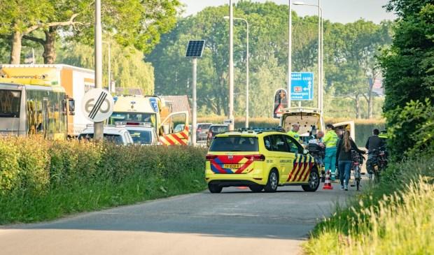 Ongeluk op de parallelweg  bij de Schoudermantel