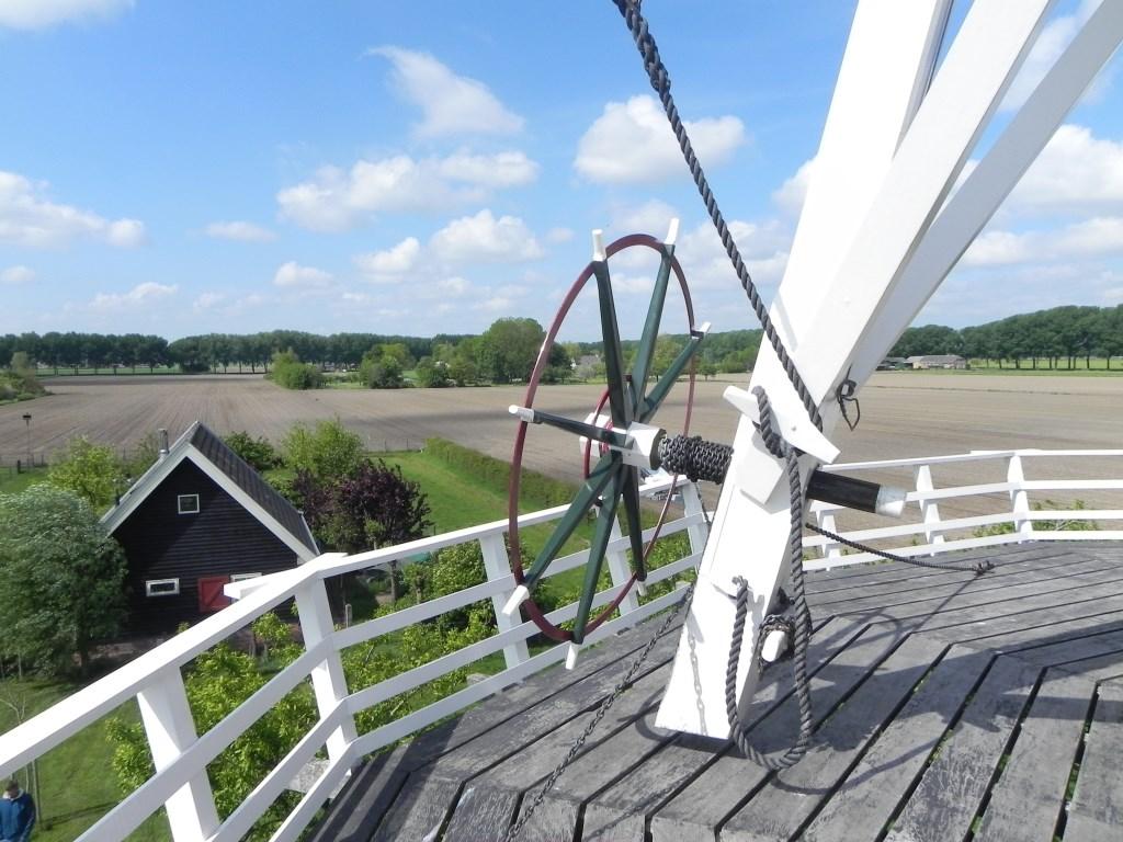 Vanaf de molen heeft men een prachtig uitzicht over de landerijen. Richard Thoolen © BDU media