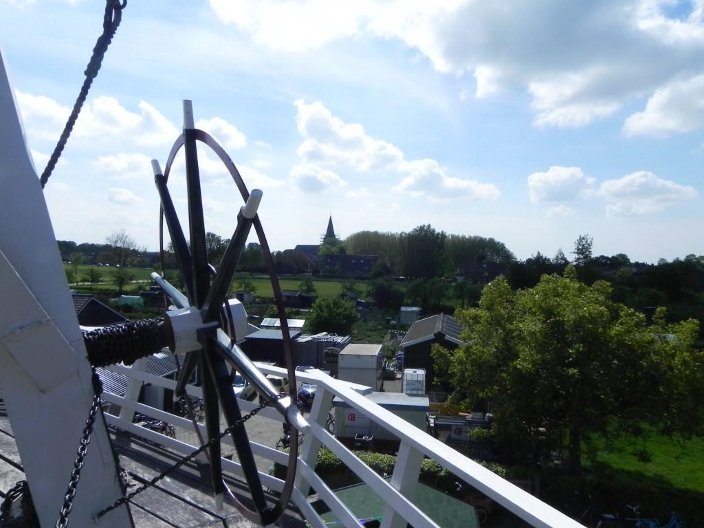 Het uitzicht vanaf de molen richting centrum. Richard Thoolen © BDU media
