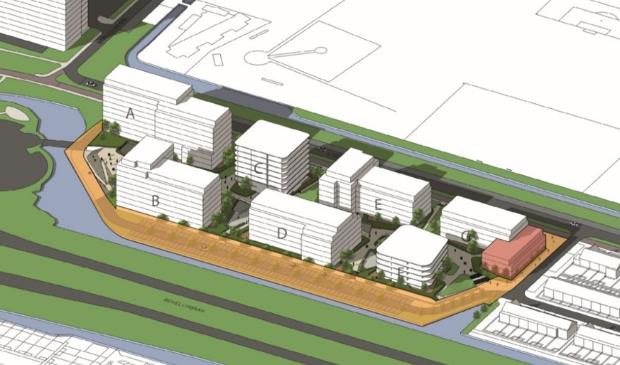 <p>Het plan omvat zeven appartementengebouwen, in hoogte oplopend richting Bovenkerkerweg.</p>