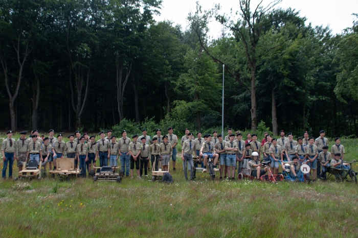 De verkenners van de twee verschillende groepen. Links Scherpenzeel en Rechts Pieter Maritz, Ede Menno van Holland © BDU Media