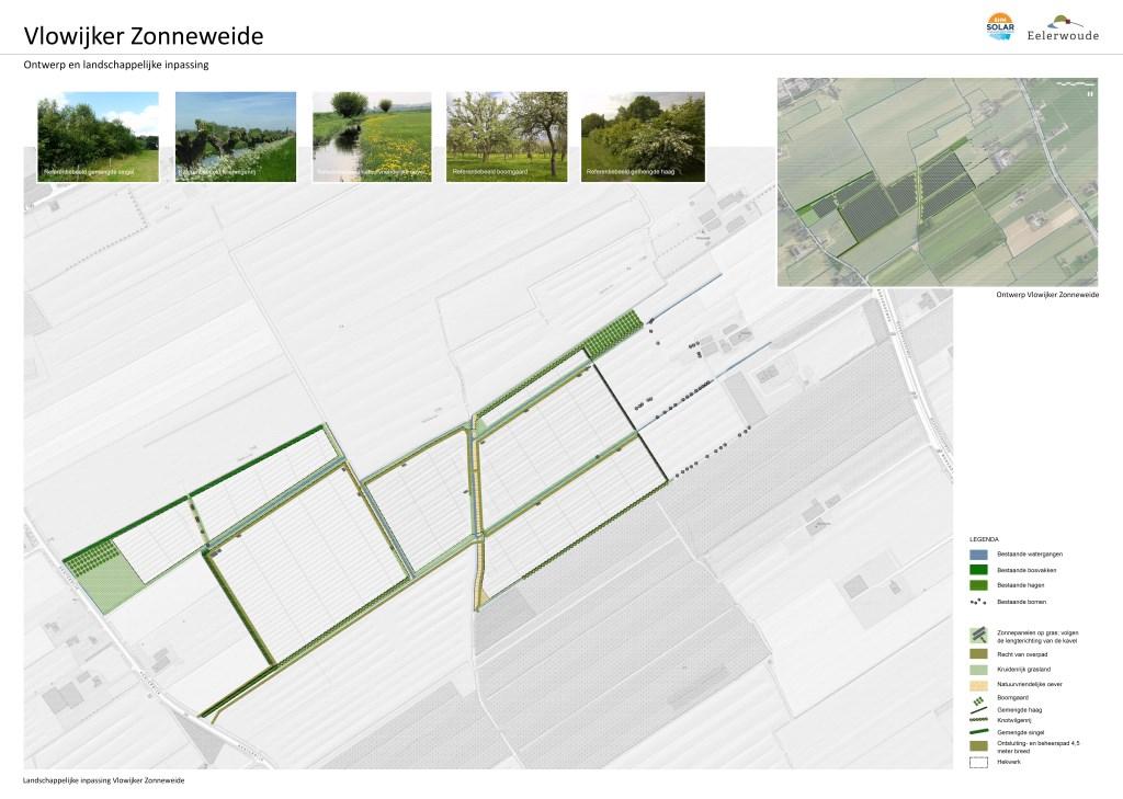 Het concept plan, het grijze gebied ten zuiden is van de neven Dorrestein en daar komen ook panelen BHM Solar © BDU media