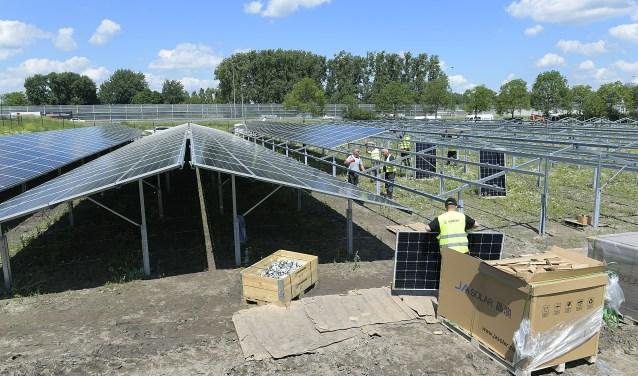 Zonnepanelen, Aanleg zonnepark