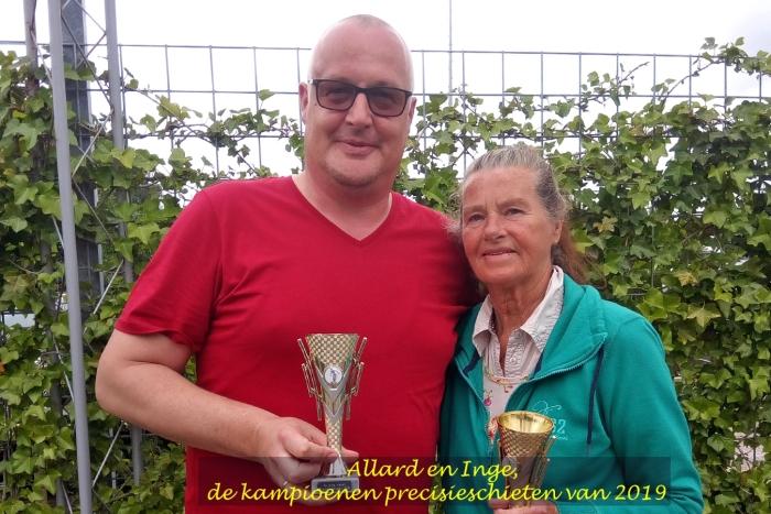 Allard Everts en Inge van der Tuin, de beste schutters