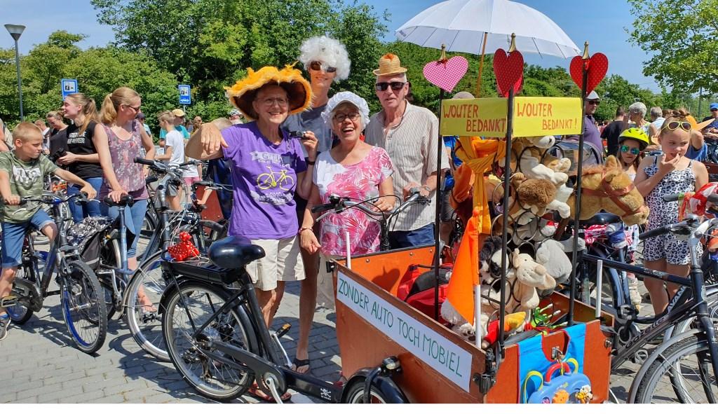 De best versierde fiets, als dank aan de burgemeester.