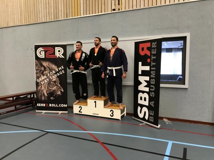 Chris 3e op het BJJ kampioenschap in Nijmegen