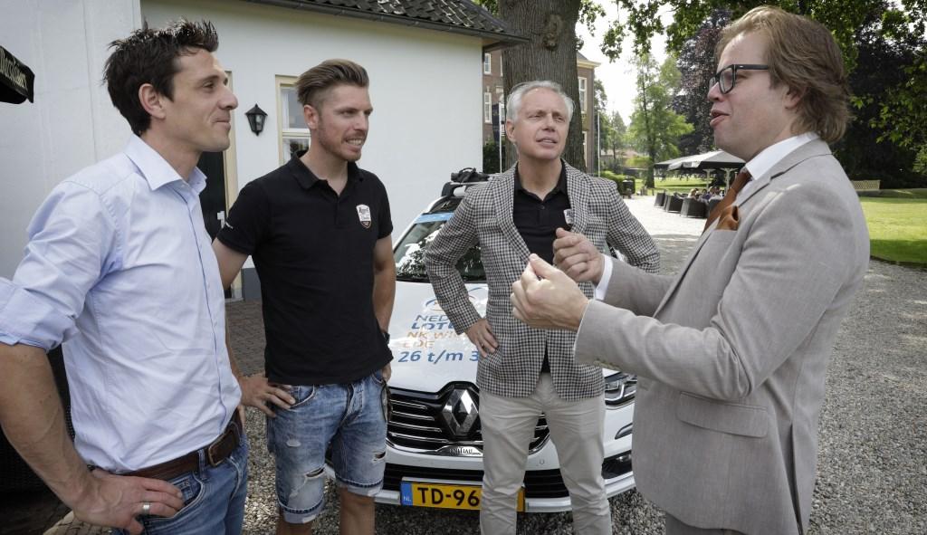 (v.l.n.r.) Thorwald Veneberg, Boy van Poppel, Jean-Paul van Poppel en Peter de Pater.