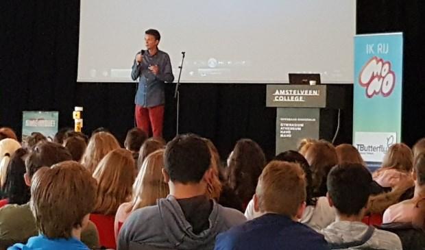 Michael Kulkens tijdens zijn presentatie.
