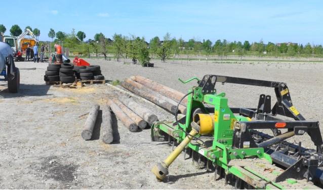 Er komt veel kijken voor de aanleg van het modderparcours.