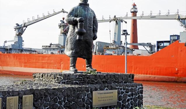 Het vissersmonument staat symbool voor de op zee gebleven visserslui.
