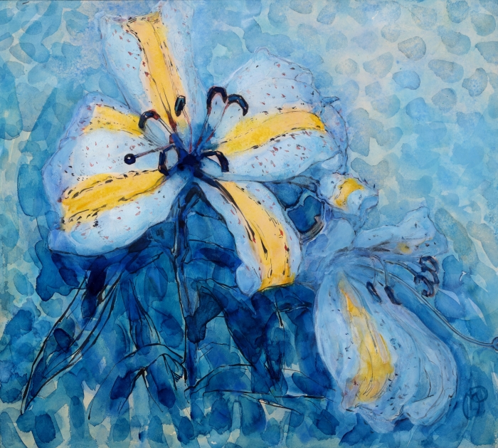 Piet Mondriaan, geel gestreepte lelie