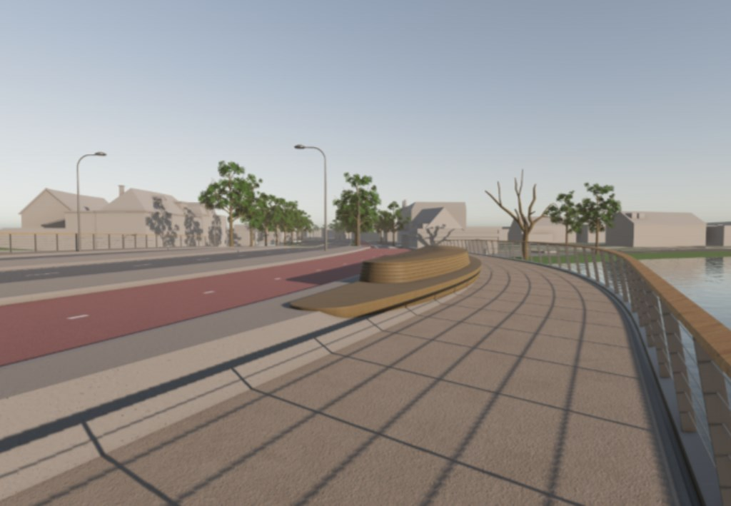 Impressie van hoe de nieuwe brug er uit moet komen te zien.  Eigen foto © BDU media