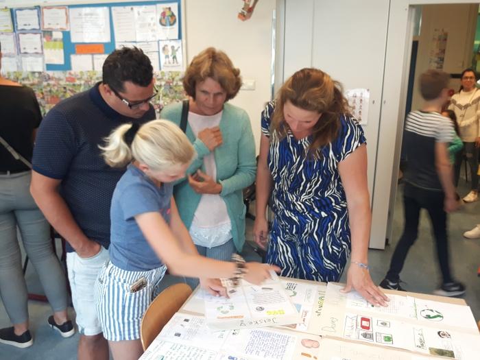 Leerlingen geven uitleg over afvalscheiding tijdens Open Huis op CBS De Tamboerijn. A. van Hofwegen © BDU Media