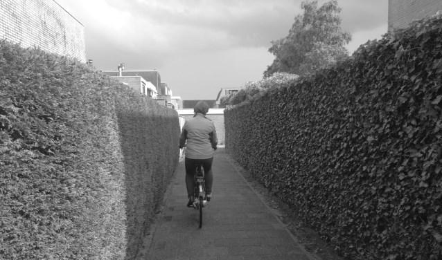 Anja kan weer met haar fiets naar de sportschool.