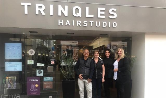 De drie ondernemers die vanuit Trinqles werken.