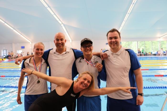 De zwemmers die gestreden hebben op het ONMK in Amersfoort