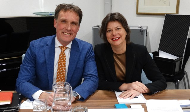 Wethouders Eijbersen en Spil (archief: jan 2017)