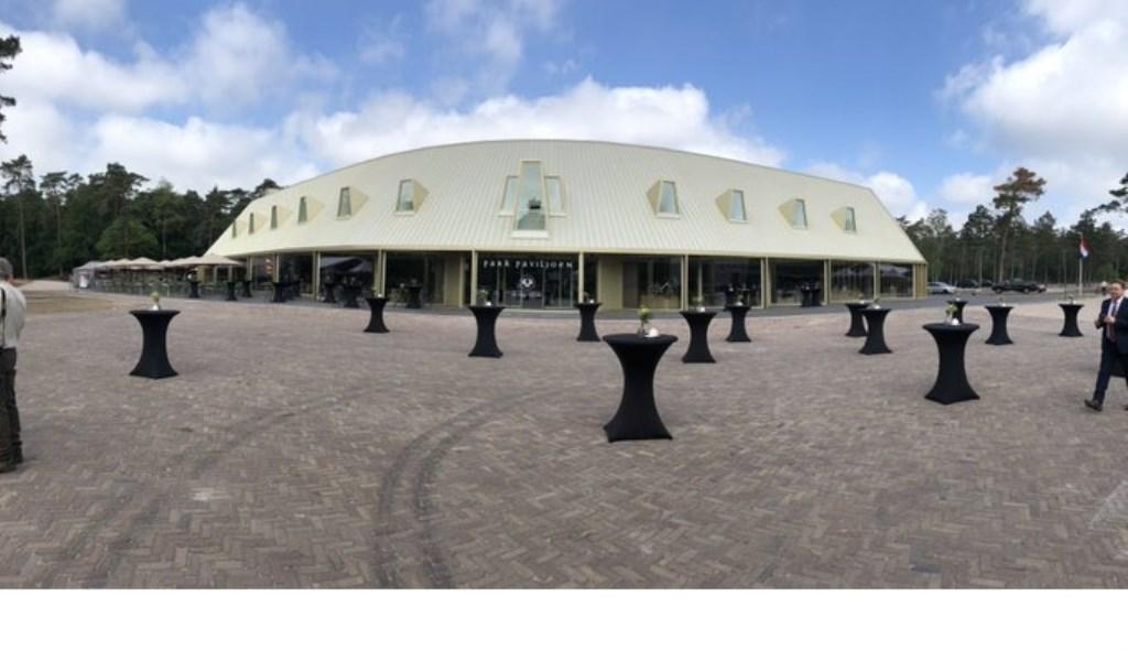 Het nieuwe Park Paviljoen kort voor de opening. Park De Hoge Veluwe © BDU Media