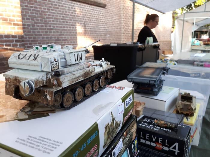 Militaire modelbouw mocht natuurlijk niet ontbreken op de regionale Veteranendag. Jeroen Heuts © BDU Media