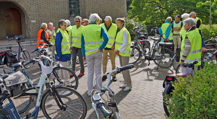 deelnemers fietstocht SAB