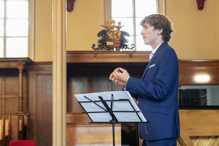 Rutger van Oeveren tijdens een eerder Paulusconcert Johan Bosgra © BDU media