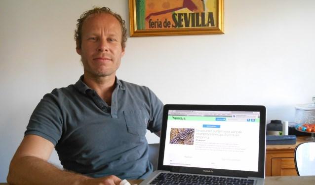 Steven Brok met de online petitie waarin hij pleit voor een structureel budget bij de gemeente Bunnik e.o. voor de aanpak van de eikenprocessierups.Vorige week donderdag is hij gestart met de petitie. Gisteravond hadden 379 mensen de petitie inmiddels getekend.