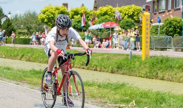 Een renner van Tour de Schalkwijk in 2019