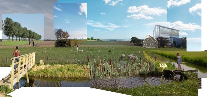 Visualisatie wonen bij de boer