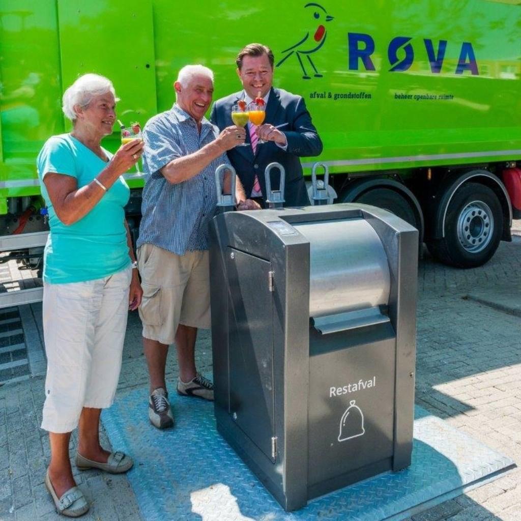 De containters voor restafval zijn al op diverse plekken in Amersfoort geplaatst.
