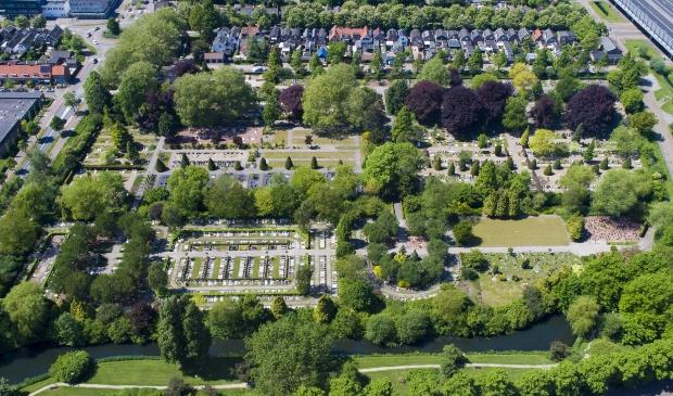 Luchtfoto Begraafplaats