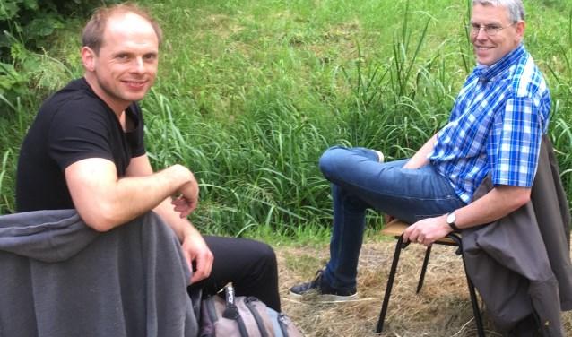 Laurens de Boer (l.) en Edwin Saan, het muzikaal-artistieke team van The Passion 2020 Ouderkerk