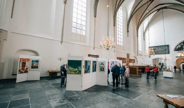 De vorige expositie van Galerie Absoluut in de Sint-Joriskerk