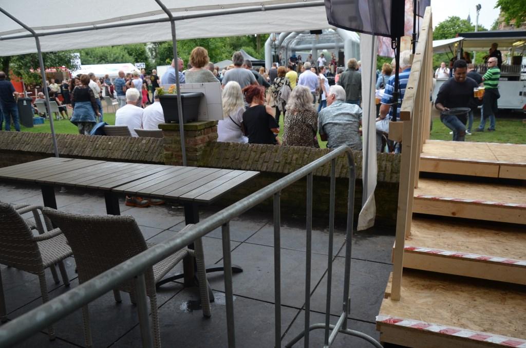 Met de nieuwe trap snel en veilig op het evemententerrein Ali van Vemde © BDU media