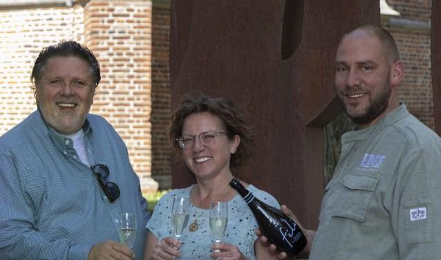 De organisatoren hebben er zin in. Van links naar rechts: Arjan van Bruggen, Corine van Ruissen en Edwin van den Oever.