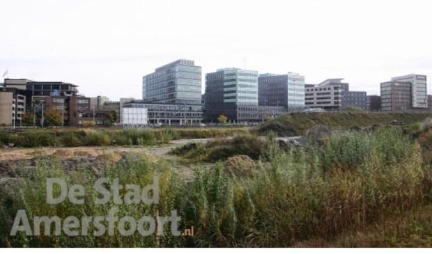 Het Trapezium, het braakliggende terrein waar waarschijnlijk het nieuwe stadhuis komt.