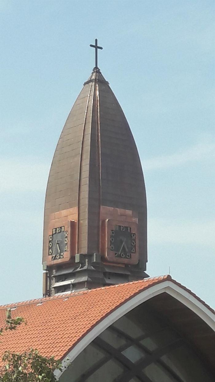 Torenspits OLVG kerk  te Halfweg
