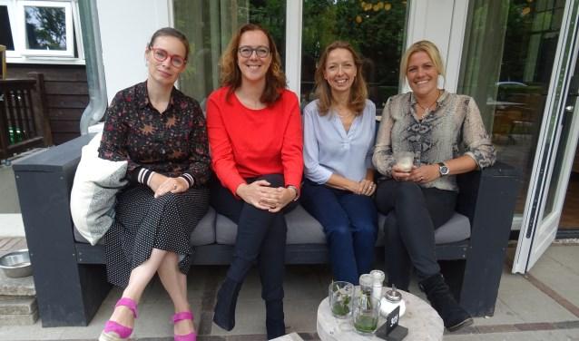 De kerngroep van HB-Connect Heuvelrug: Jill Yohai, Ariadne Biessels, Inge Rozendaal en Joke van Grootveld.