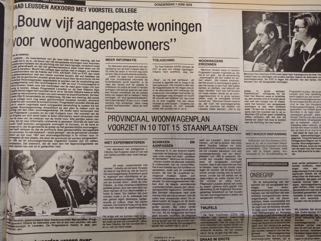 Uit het archief: Corri Verduin voert als raadslid het woord over woonwagenbeleid. Daan Bleuel © BDU media