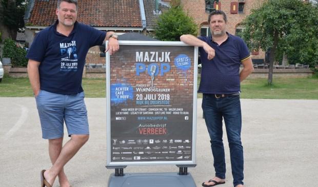 Vincent Feenstra en Vincent Herfkens organiseren Mazijkpop